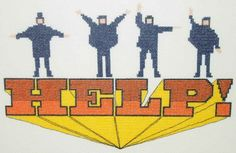 Beatles HELP Movie Poster Counted Cross Stitch