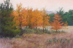"Heart of Texas Autumn by Jeri Salter Pastel ~ 24"" x 36"""