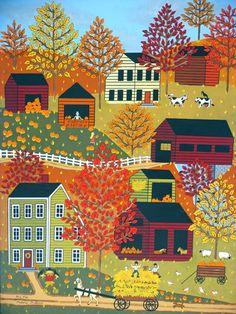 Folk Art Autumn by MedanaGabbardGallery