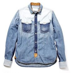 White Mountaineering Denim Western Shirt