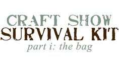 """Craft Show Survival Kit  - Part One - What's In The Bag?  This article is going to cover what I ridiculously call my """"Administrative Bag."""" The Bag is a big, red tote that I go to when I am looking for anything set-up or business related. It should contain everything you need for the business portion of your show. This may include, but is not limited to, the following items:"""