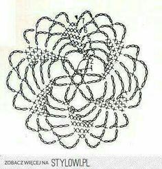 U Kathryn : Szydełkowe płatki śniegu -wzory (Crochet snowflakes -patterns) Crochet Snowflake Pattern, Crochet Mandala Pattern, Crochet Circles, Crochet Snowflakes, Crochet Stitches Patterns, Crochet Chart, Crochet Squares, Thread Crochet, Crochet Dollies
