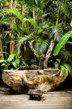 Gotta keep my eyes peeled for some driftwood to make a tub like this!