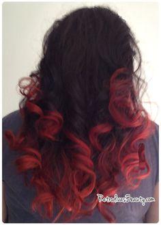 retrodivas red ombre hair diy bleach