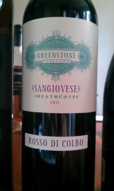 Greenstone Rosso di Colbo Sangiovese 2011. This wine was one of the highlights from Saturday's tasting at Mezzo. It is everything I want from a great Sangiovese. This could give more than a few Chiantis a run for their money! It is savoury, dry and lean with a nice acid backbone. It shows dark fruits, a hint of oak and a light floral note. Brilliant drinking! It went particularly well with Mezzo's wild boar ragu! $31ea