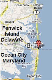 Ocean City Maryland Boardwalk Map From Center Of Map