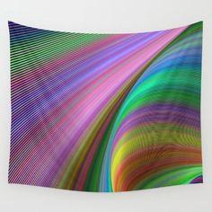 Rainbow dream wall tapestry