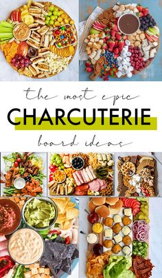20 BEST Charcuterie Board Ideas - Love and Marriage Charcuterie Recipes, Charcuterie Platter, Charcuterie And Cheese Board, Cheese Boards, Party Food Platters, Food Trays, Cheese Party Trays, Snack Trays, Snacks Für Party