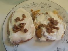 """THM """"Ooey gooey cinnamon rolls."""" See Melissa's wonderful recipe in the link below. S meal. It is Melissa's recipe I just changed it up a little.These are how mine turned out."""