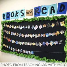 Book Photos in a Snap is part of Reading bulletin boards - Make your Classroom Book a Day reads visible without spending a ton of time Here's a simple hack that will have you caught up in no time Reading Bulletin Boards, Bulletin Board Display, Classroom Bulletin Boards, School Classroom, Reading Corner Classroom, Year 3 Classroom Ideas, Classroom Libraries, School Display Boards, Creative Classroom Ideas