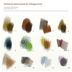 PS style brushes for ArtRage by GBWhisper.deviantart.com on @DeviantArt