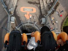 """""""Don't. Look. DOWN!"""" ~ Oblivion at Alton towers in the UK...from the top looking down."""