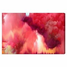 Shop for Oliver Gal 'Vivanti' Abstract Wall Art Canvas Print - Red, Orange. Get free delivery On EVERYTHING* Overstock - Your Online Art Gallery Store! Wall Prints, Canvas Art Prints, Painting Prints, Canvas Wall Art, Art Paintings, Thing 1, Contemporary Artwork, Modern Contemporary, Oliver Gal