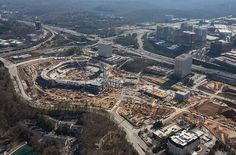 Checking in on SunTrust Park: An aerial view of the construction - Atlanta Magazine