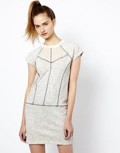 French Connection Speckled Sweater Dress
