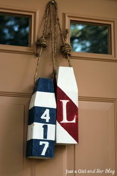 Decorate your front door in a nautical theme with this DIY buoy decor tutorial
