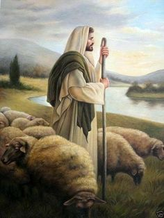 Large Oil Painting Portrait Jesus Christ With Sheep By The Christian Images, Christian Art, Images Bible, Image Jesus, Pictures Of Jesus Christ, Lds Art, Jesus Painting, Biblical Art, Jesus Art