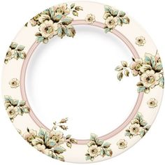 Katie Alice - 4 Porcelain Cottage Flower Dinner Plates with Swing Tag