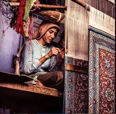 "Carpet Weaver, Isfahan - From Peter Carapetian's collection ""IRAN: Soul Of An Ancient Land"""