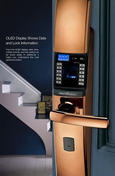 M201 Fingerprint Door Lock with OLED Display and USB Interface