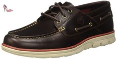 Timberland Bradstreet 3 Eyebrown, Chaussures Bateau Homme, Marron (Brown Pull Up), 49 EU - Chaussures timberland (*Partner-Link)