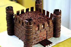Easy Castle birthday cake