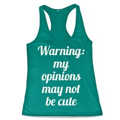 Are you tired of trying to find a cute way to state your opinions? Channel your inner J-Law with this sassy tank top. This tank has bigger armholes and is a super comfy tri-blend that allows for a bit