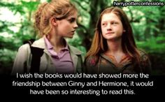 I wish the books would have showed more the friendship between...
