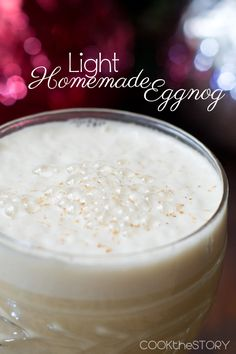 Light Eggnog Recipe - celebrate the Christmas season with a little less fat and calories, thanks to the use of yogurt instead of cream!