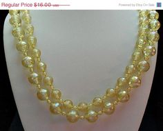 September Sale 10 Yellow NecklaceBeautiful and by AprilSnowJewelry, $14.40