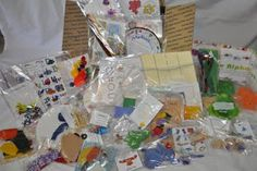 Busy bags - what a great idea! Need to make some of these for Daddy while he's home with Joey. Ready-made activities - he doesn't even have to think. :)