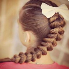 Pull Through Braid- Valentine's Day Hairstyles for Girls