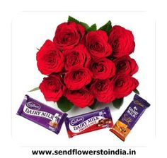 Send bunch of #red roses and # chocolates to your loved one  For details visit: http://bit.ly/1jQhupR