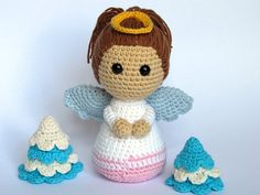 Little Angel-Amigurumi Crochet Pattern / PDF e-Book / farcito animali Tutorial