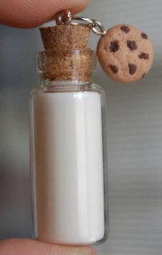 polymer clay milk and cookies