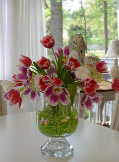 Tulip Centerpiece with double vase - Pottery Barn Knock-off