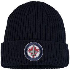 5227b0d77cb Men s Winnipeg Jets Fanatics Branded Navy Core Cuffed - Knit Hat
