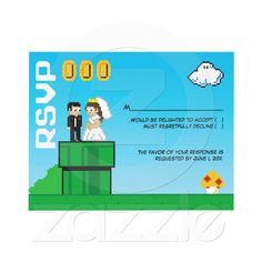 8bit wedding RSVP