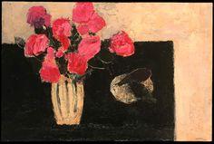 Bernard Cathelin, Hortensias et aubergines⋅2002—146×114cm