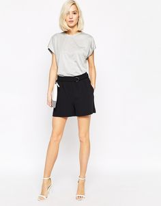 Selected Soft Tailored Shorts with D Ring