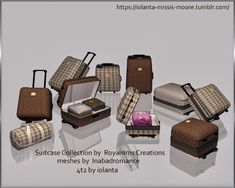 Suitcases original textures by Royalsims.