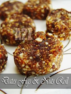 Dates Figs & Nut Roll, Vegan Diabetic Friendly Sugar free