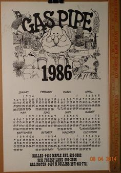 Vintage 1986 Calendar Art Gas Pipe Alamo to USS by TheIDconnection $75.00 Vintage 1986 & 114 best Texas images on Pinterest | Etsy shop Galveston texas and ...