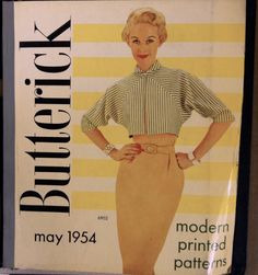 From The McCall Pattern Company archives: the cover of a 1954 Butterick Patterns catalog. And with Tippi Hedren as the model! #butterickpatterns #vintagepatterns #hitchcockblonde