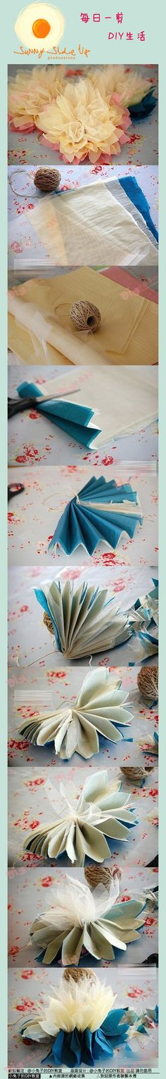 【Retro super beautiful handmade flower DIY] super gorgeous textured yarn of flowers, decoration where nice not to a few steps can be completed very short answer. ~ ~ ~ Note, however, the middle of the petals is different Material yo ~