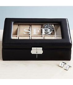 new idea for stratton personalized leather watch case for men black leather watch box