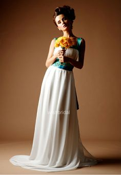 Non traditional wedding dresses on pinterest color for Non traditional wedding dress colors