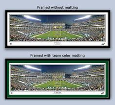 The Philadelphia Eagles at Lincoln Financial Field on September 16, 2012.  Available unmatted and framed to the edge or matted and framed in team colors with your choice of 3 wood frames  https://www.myteamprints.com/ #Eaglesfan