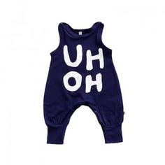 Sleeveless Letters Printed Jumpsuit for Babies