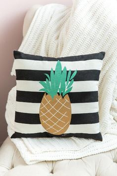 Pineapple Striped Pillow